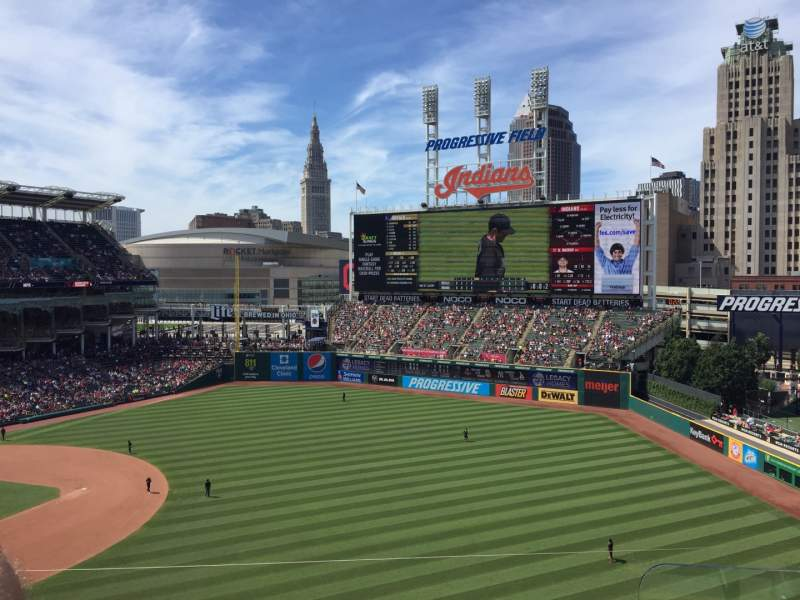 Seating view for Progressive Field Section 428 Row C Seat 1