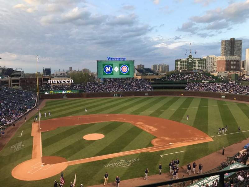Seating view for Wrigley Field Section 322R Row 1 Seat 1