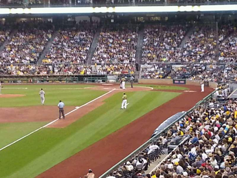 Seating view for PNC Park Section 131 Row CC Seat 24