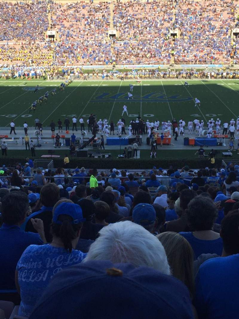 Seating view for Rose Bowl Section 19-L Row 51