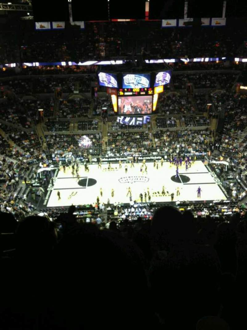 Seating view for AT&T Center Section 224 Seat 17