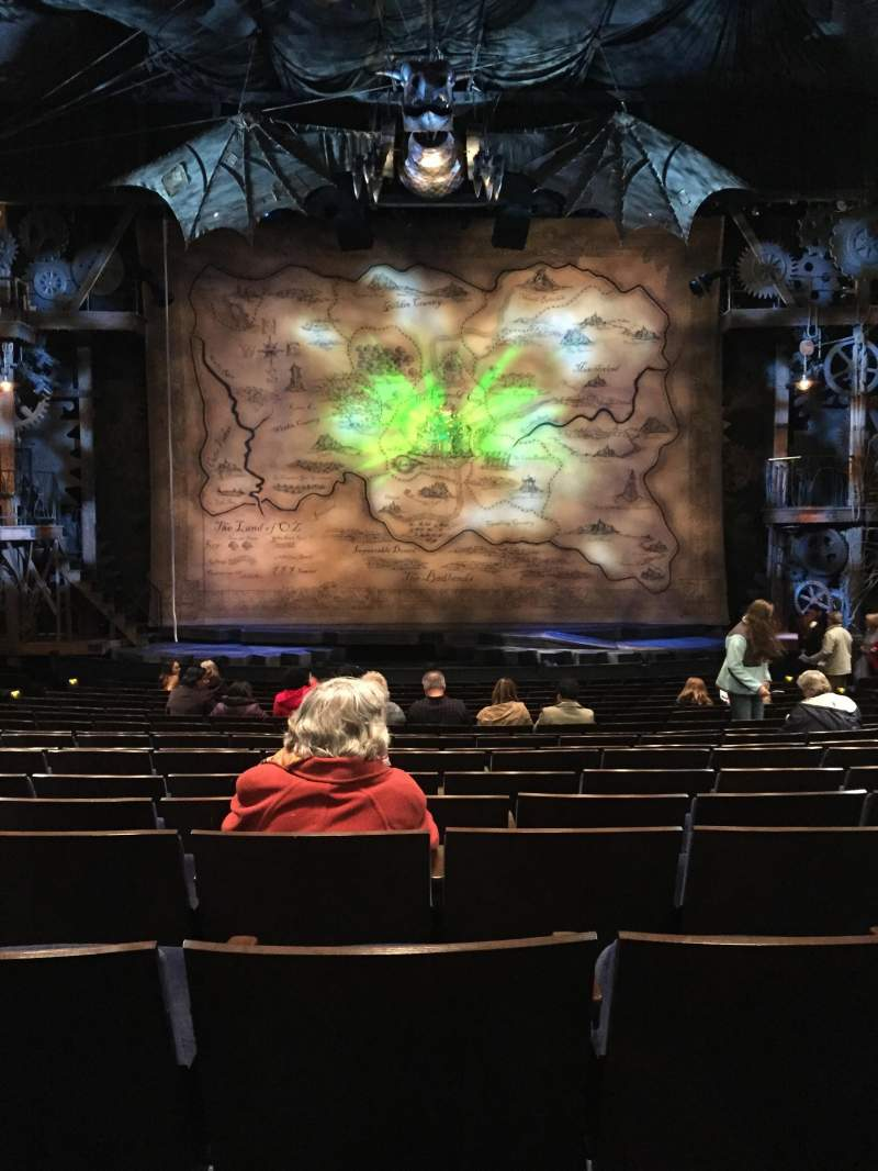 Seating view for Gershwin Theatre Section Orchestra C. Row O Seat 109