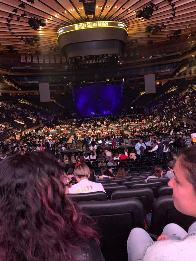 Seating view for Madison Square Garden Section 102 Row 15 Seat 11