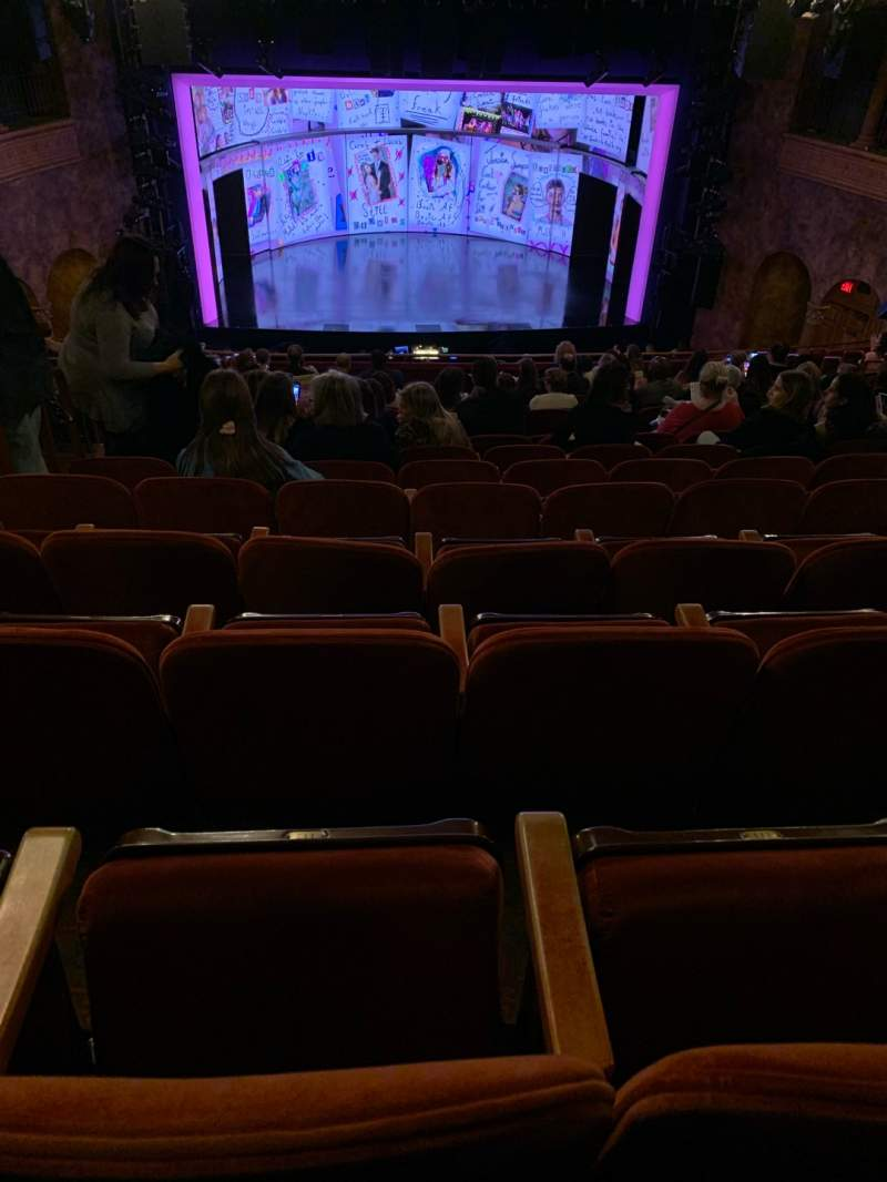 Seating view for August Wilson Theatre Section Mezzanine C Row P Seat 112
