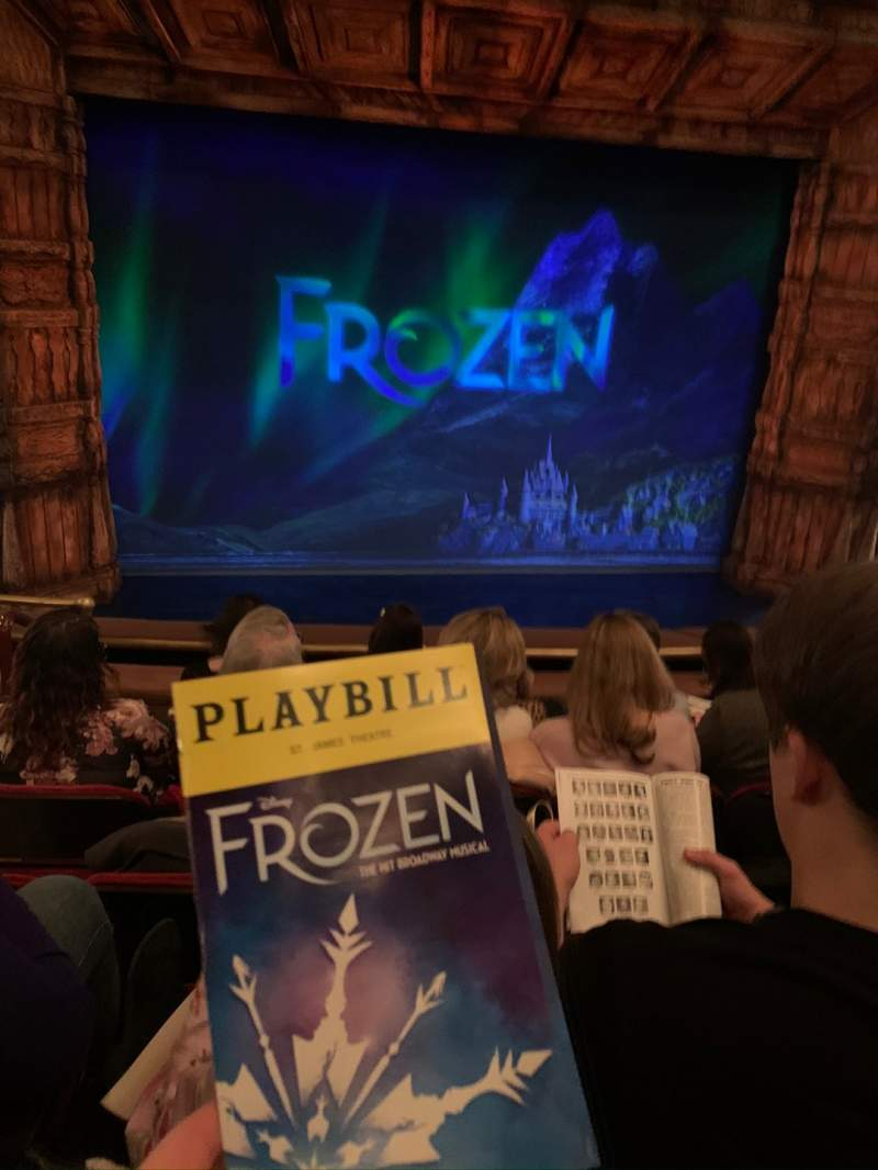 Seating view for St. James Theatre Section Mezzanine C Row E Seat 114