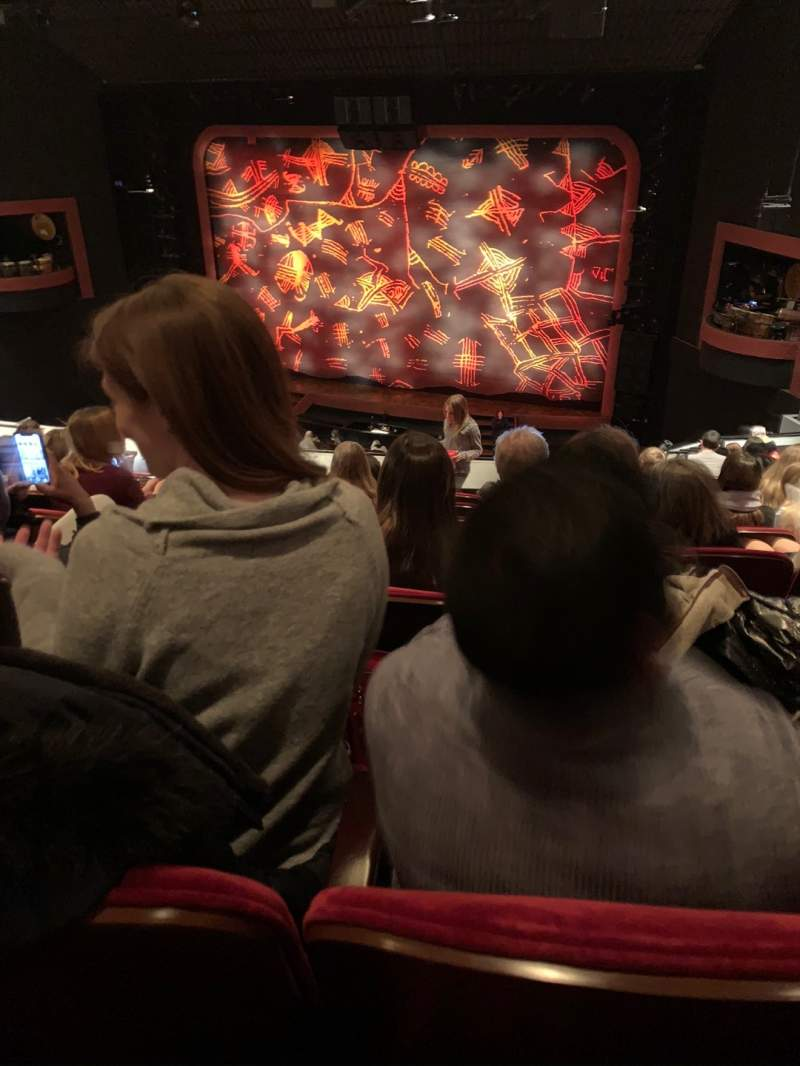 Seating view for Minskoff Theatre Section Mezzanine Row G Seat 148