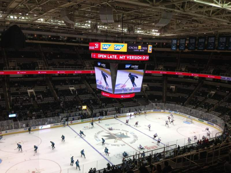 Seating view for SAP Center Section 217 Row 14 Seat 17