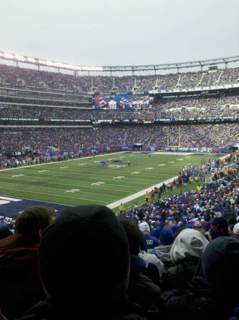 Seating view for MetLife Stadium Section 121 Row 39 Seat 18