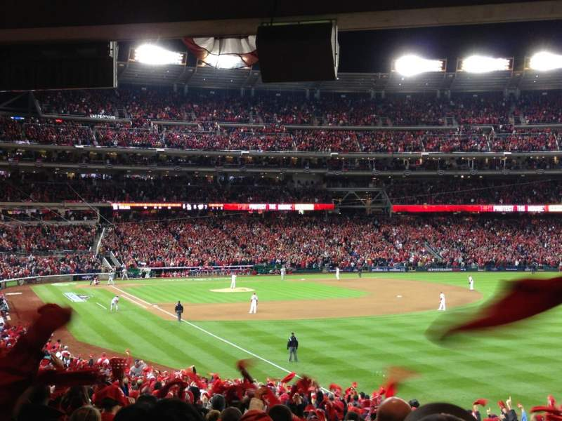 Seating view for Nationals Park Section 136 Row SS Seat 1