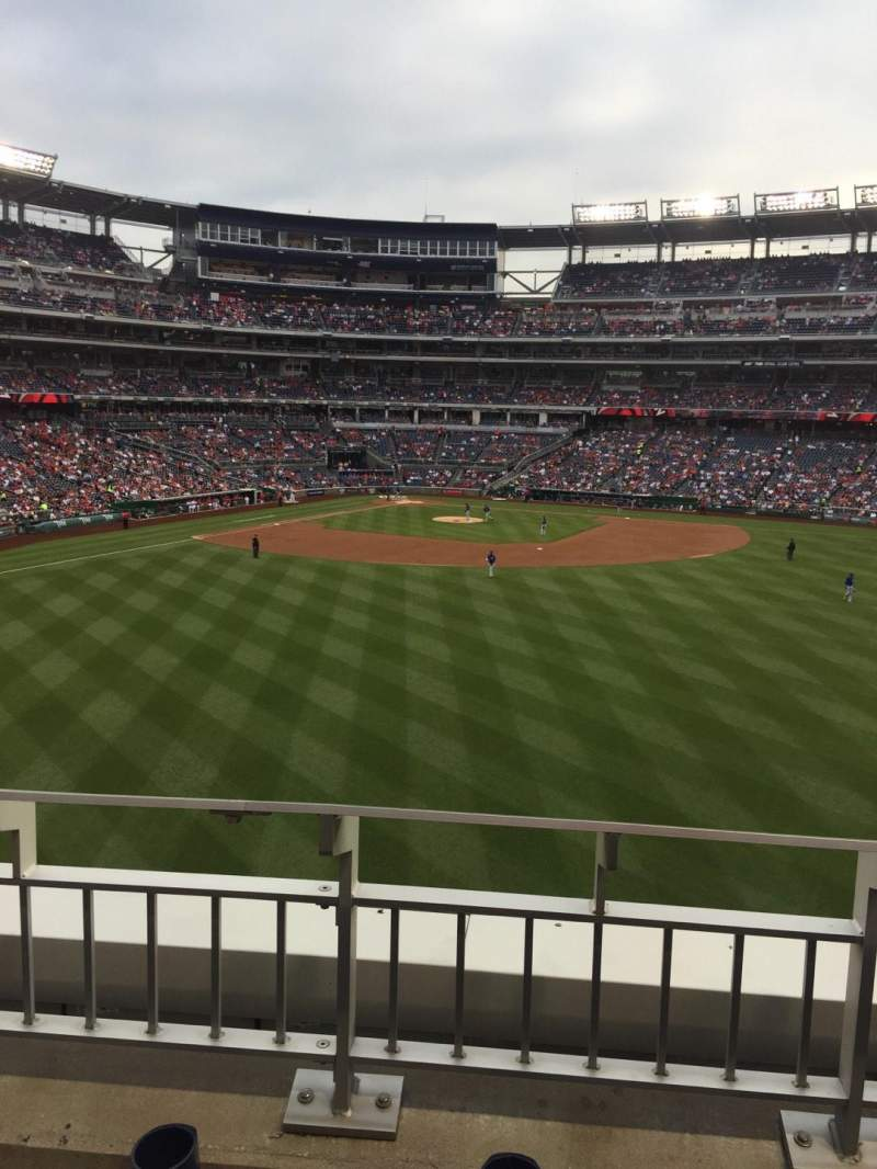 Seating view for Nationals Park Section 242 Row B Seat 22