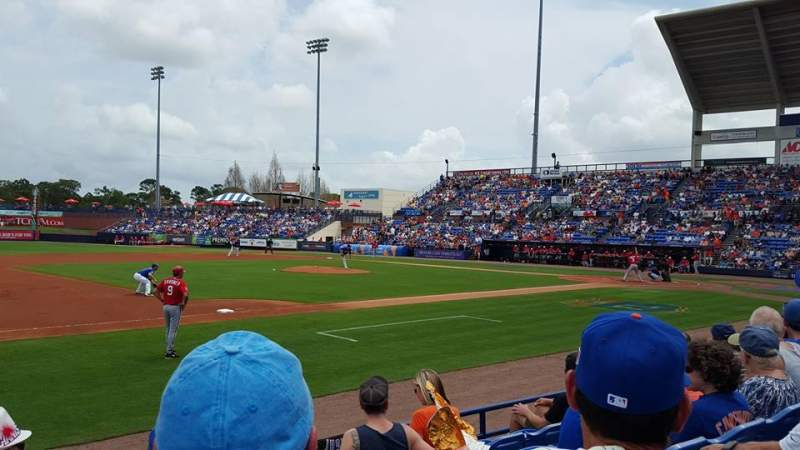 Seating view for Tradition Field Section 112 Row E Seat 3-4