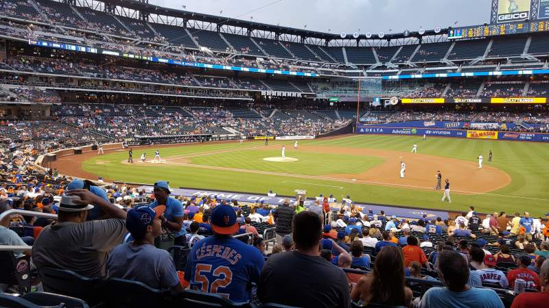 Seating view for Citi Field Section 112 Row 27 Seat 5