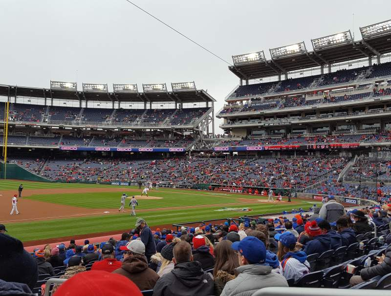 Seating view for Nationals Park Section 113 Row X Seat 2