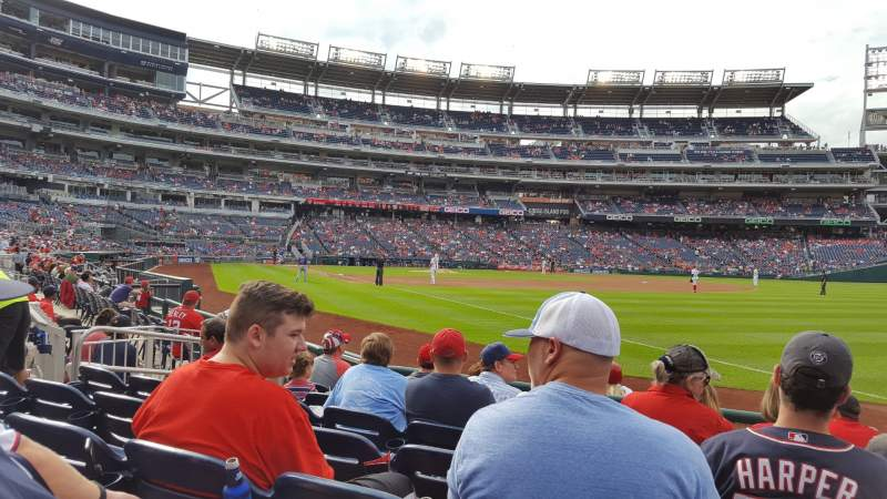 Seating view for Nationals Park Section 135 Row G Seat 1-2