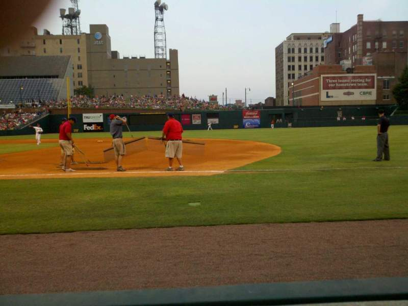 Seating view for Autozone Park Section 111 Row 1 Seat 13