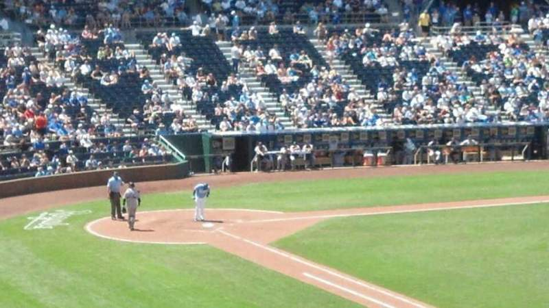 Seating view for Kauffman Stadium Section 323 Row a Seat 9