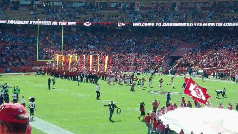 Seating view for Arrowhead Stadium Section 131 Row 25 Seat 12