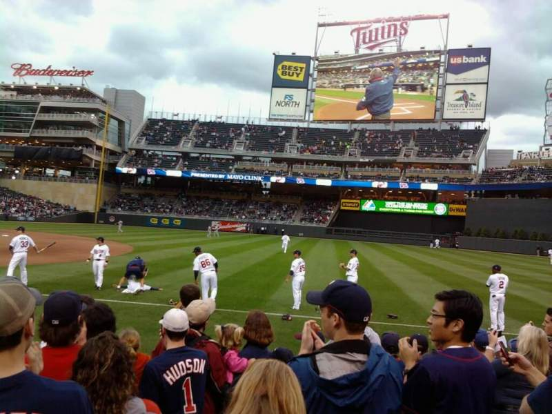Seating view for Target Field Section 4 Row 13 Seat 13