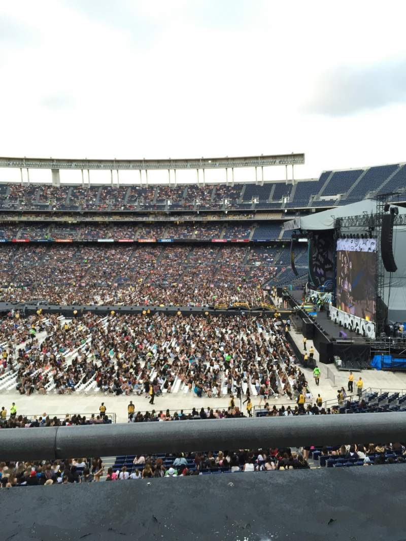 Seating view for Qualcomm Stadium Section C39 Row 1 Seat 10