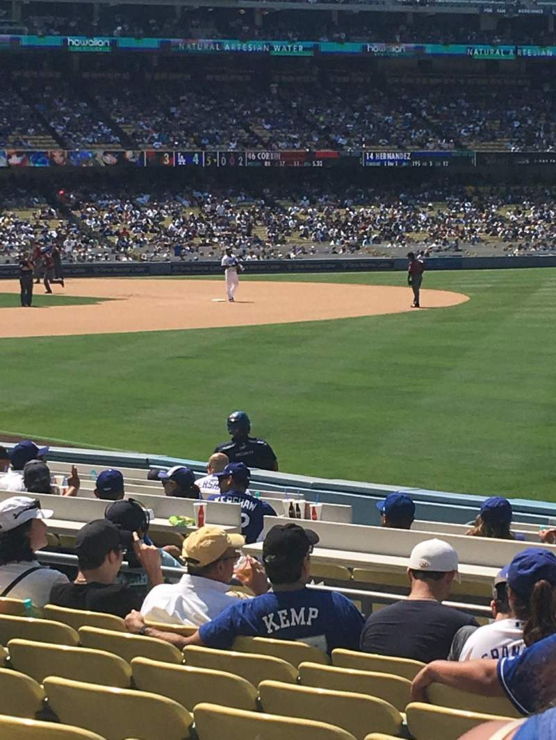 Seating view for Dodger Stadium Section 44FD Row J Seat 17