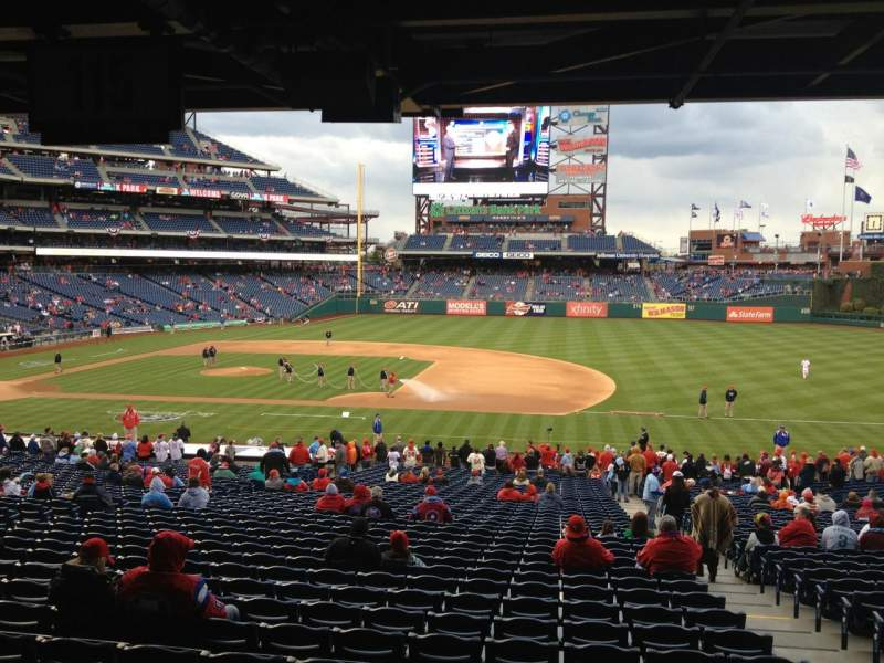 Seating view for Citizens Bank Park Section 115 Row 40 Seat 4