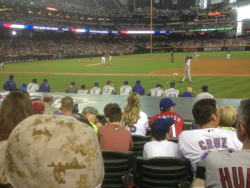 Seating view for Chase Field Section D Row 11 Seat 4