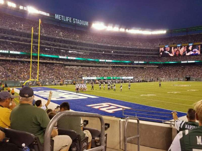 Seating view for MetLife Stadium Section 146 Row 7 Seat 9