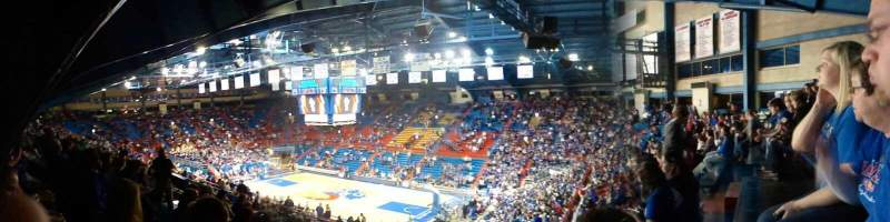 Seating view for Allen Fieldhouse Section 2A Row 27 Seat 42