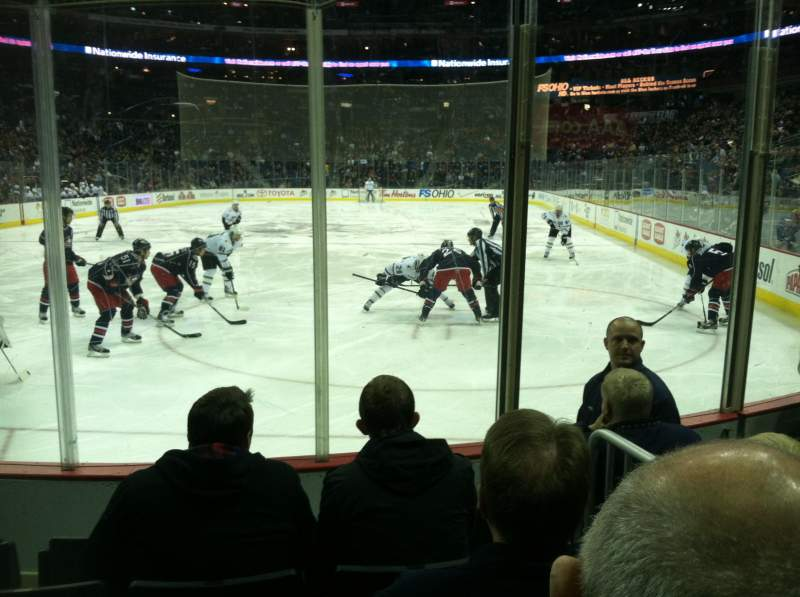 Seating view for Nationwide Arena Section 119 Row E Seat 8