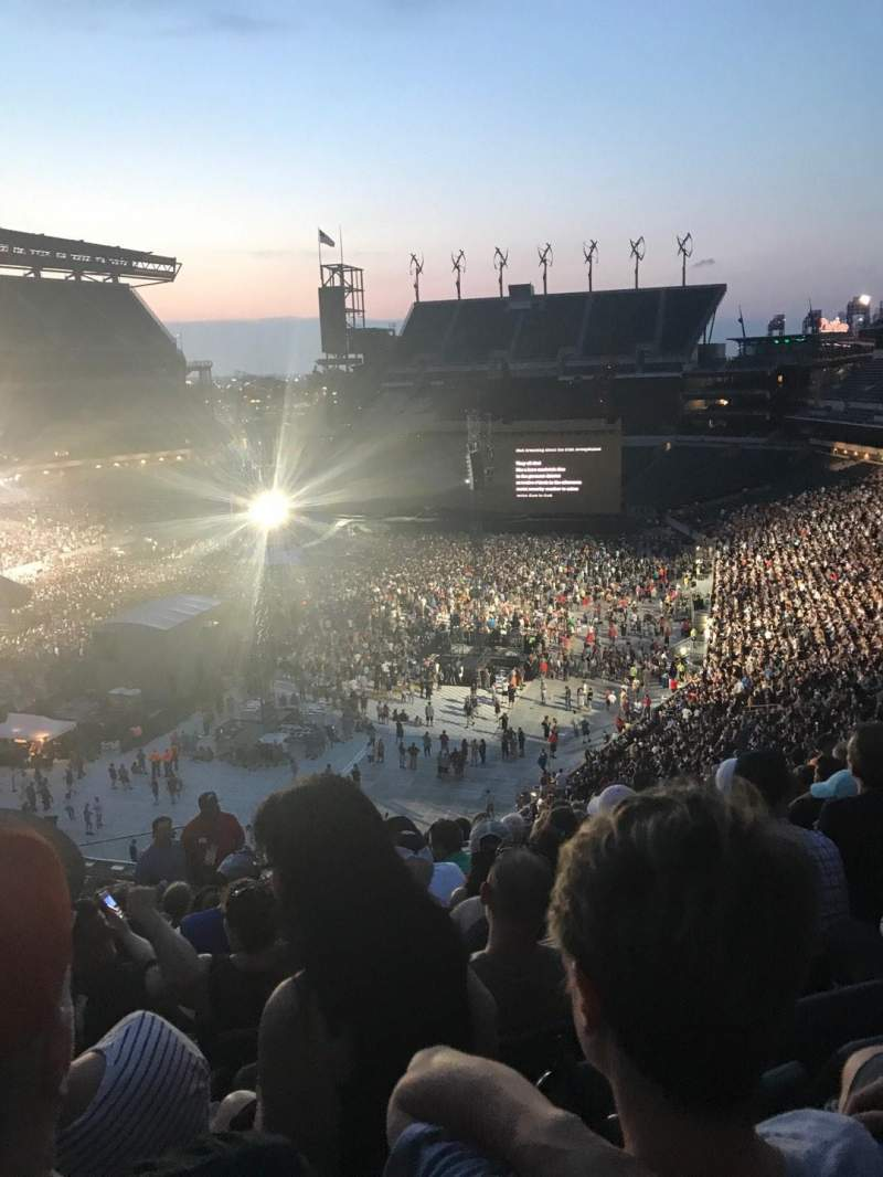 Lincoln Financial Field, section: M14, row: 18, seat: 28