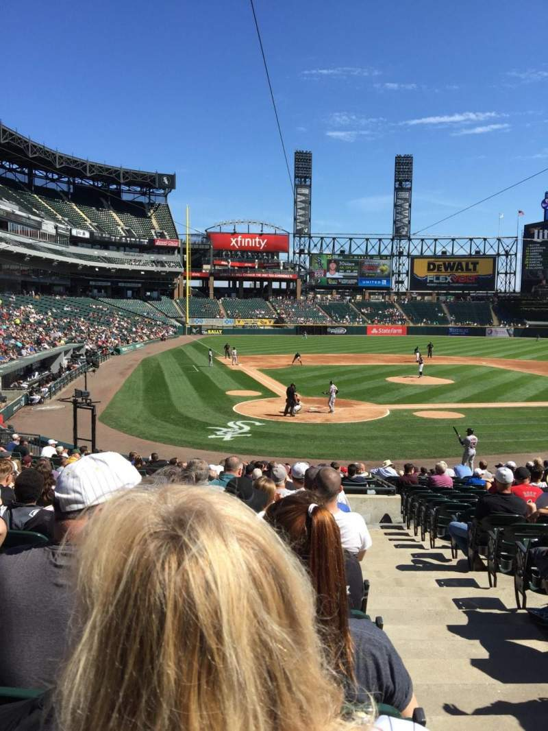 Seating view for Guaranteed Rate Field Section 130 Row 24 Seat 1