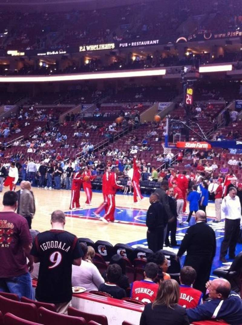 Seating view for Wells Fargo Center Section 103 Row 7 Seat 12