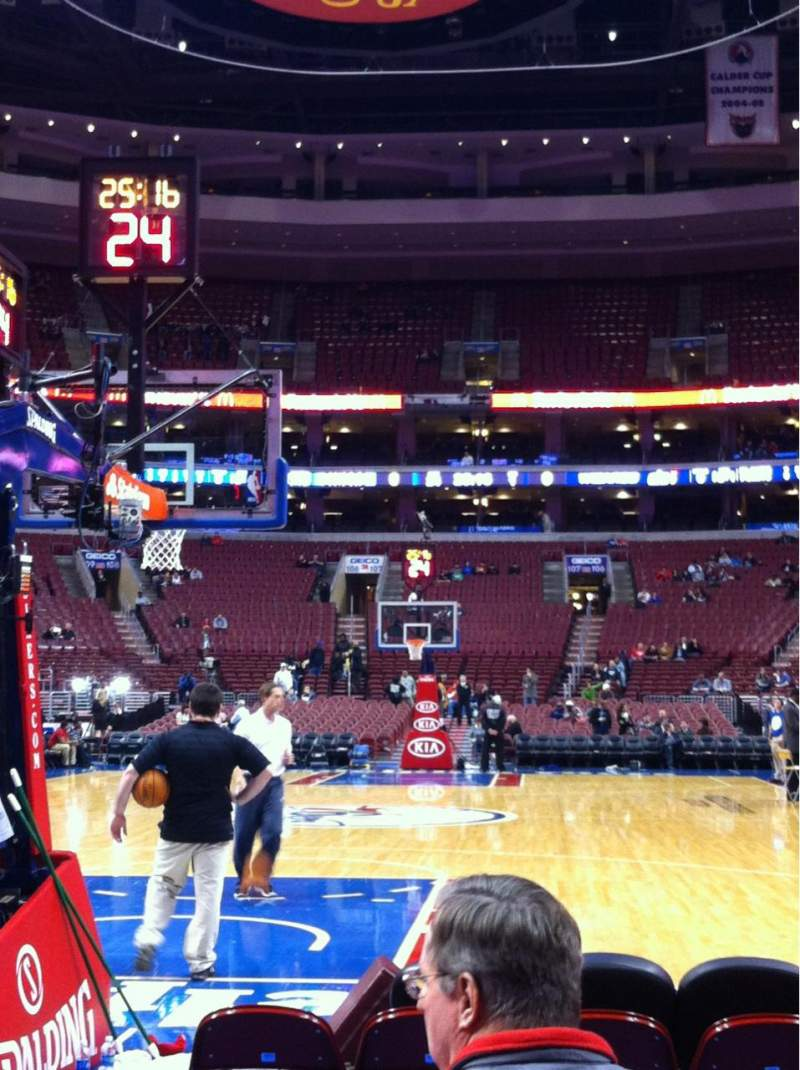 Seating view for Wells Fargo Center Section 120 Row D