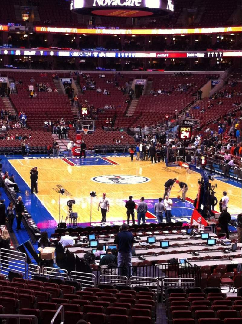 Seating view for Wells Fargo Center Section 122 Row 20