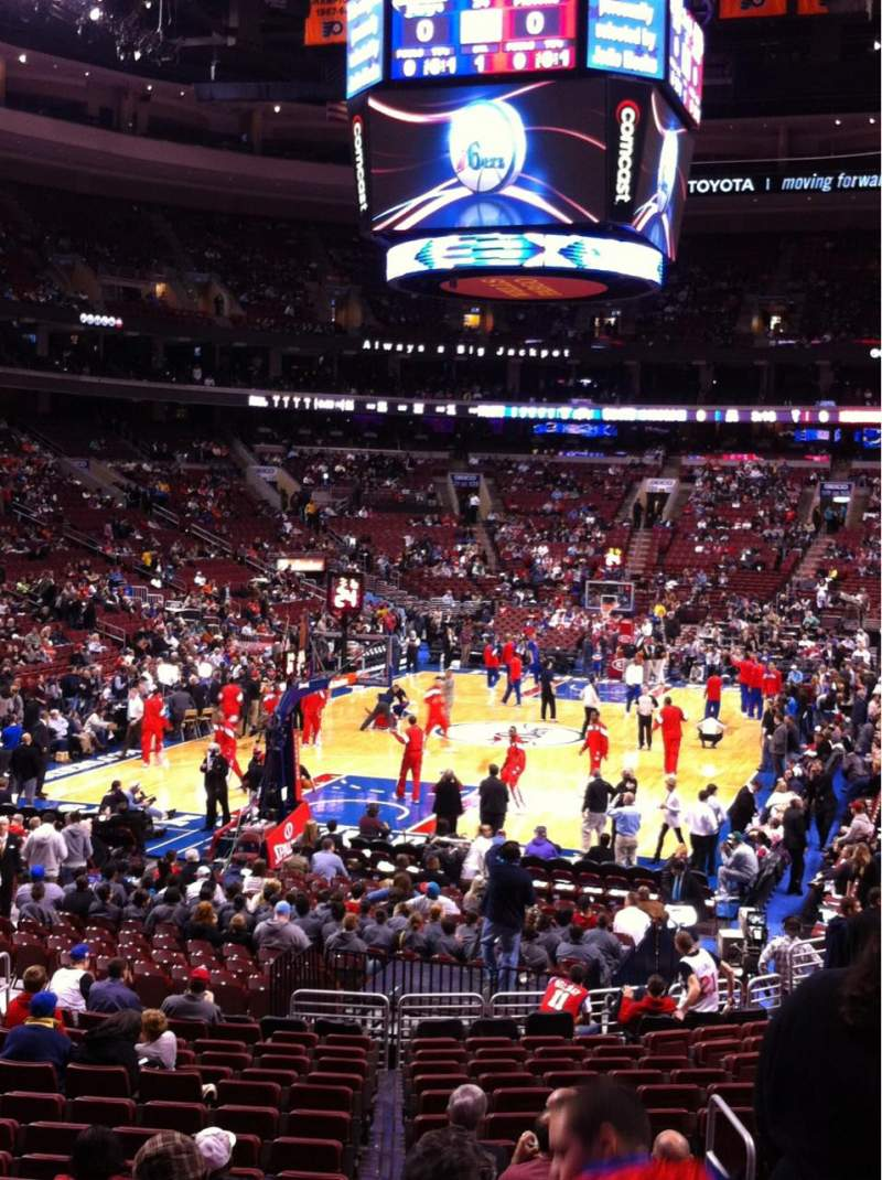 Seating view for Wells Fargo Center Section 108 Row 19