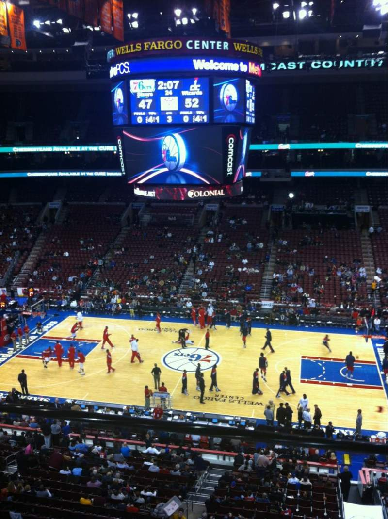 Seating view for Wells Fargo Center Section 202 Row 1
