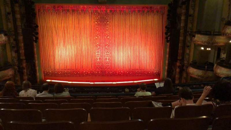 Seating view for New Amsterdam Theatre Section Mezzanine C Row GG Seat 108-110
