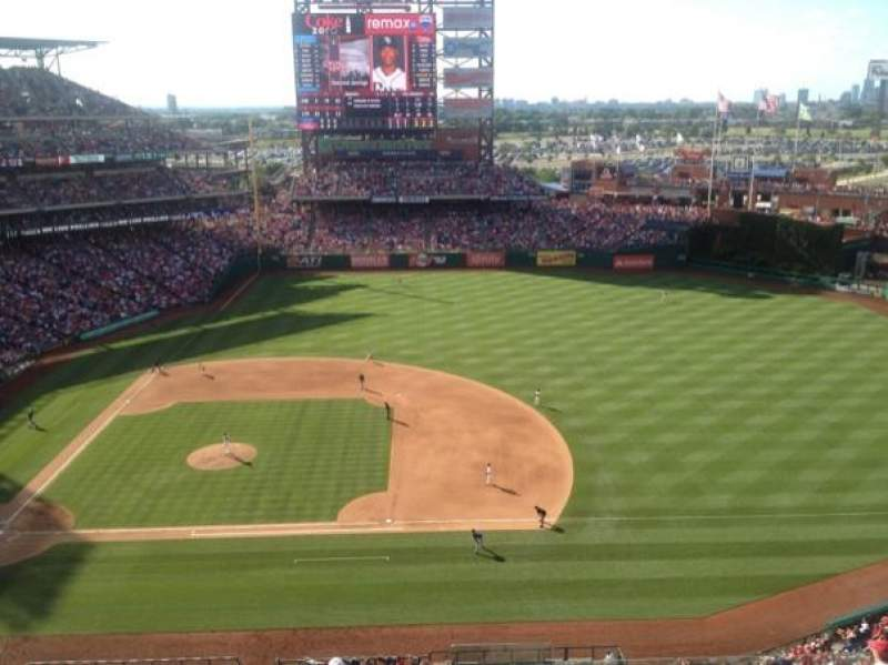 Seating view for Citizens Bank Park Section 415 Row 1 Seat 1