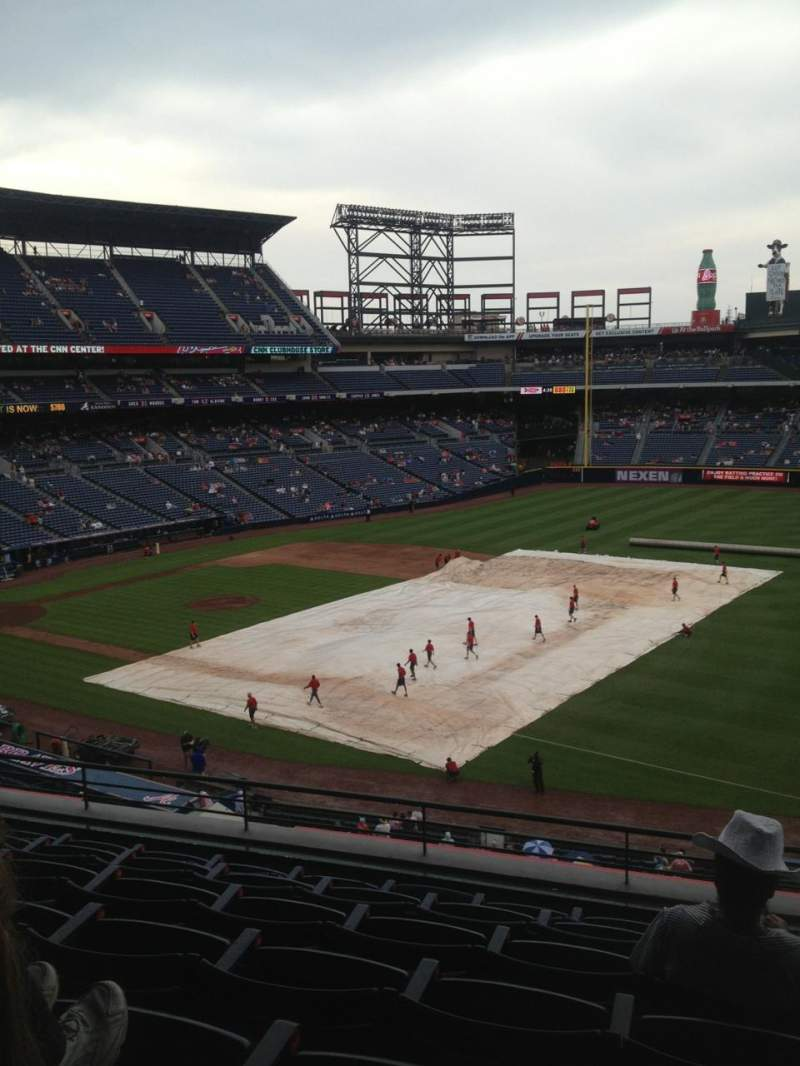 Seating view for Turner Field Section 319 Row 7 Seat 109