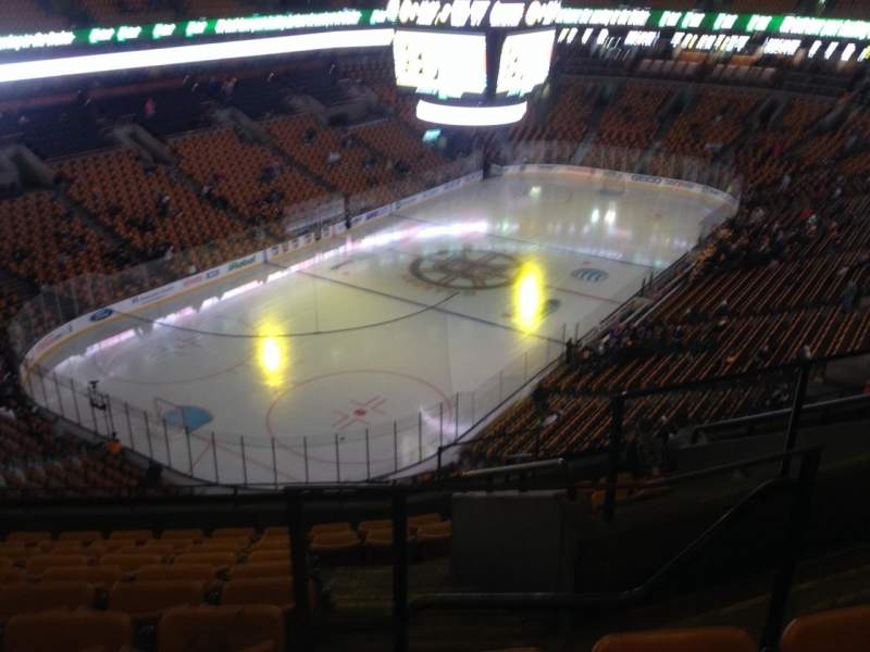 Seating view for TD Garden Section Bal 306 Row 10 Seat 3