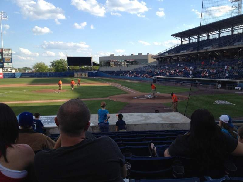 Seating view for Harbor Park Section 105 Row M Seat 14