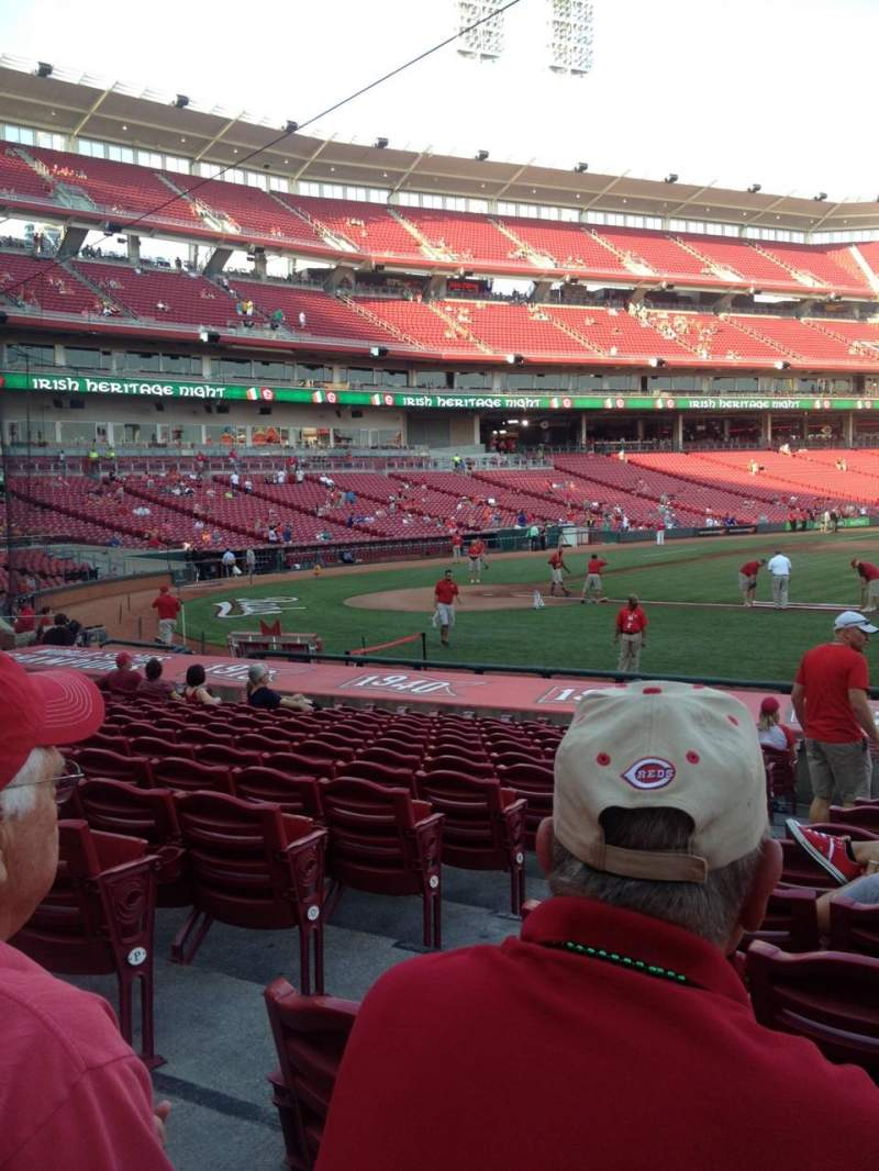 Seating view for Great American Ball Park Section 130 Row S Seat 12