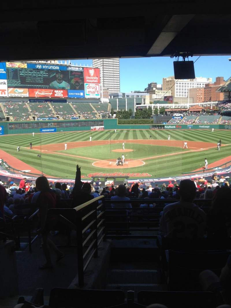 Seating view for Progressive Field Section 253 Row E Seat 15