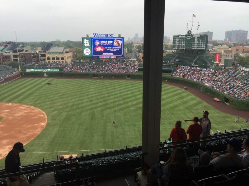Seating view for Wrigley Field Section 533 Row 6 Seat 104
