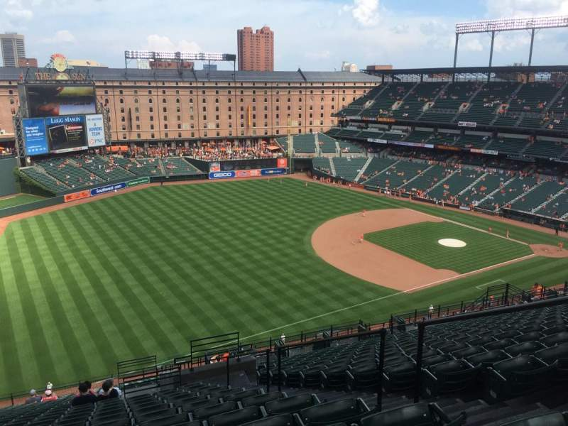 Seating view for Oriole Park at Camden Yards Section 368 Row 25 Seat 5