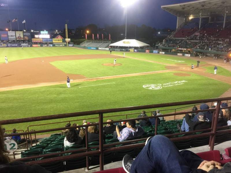 Seating view for McCoy Stadium Section 12 Row CC Seat 14