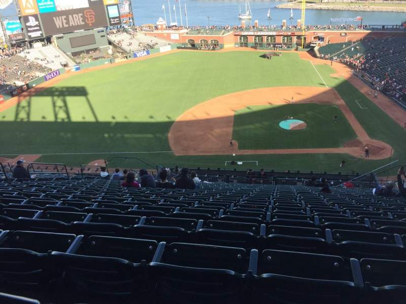 Seating view for Oracle Park Section VR323 Row 16 Seat 9