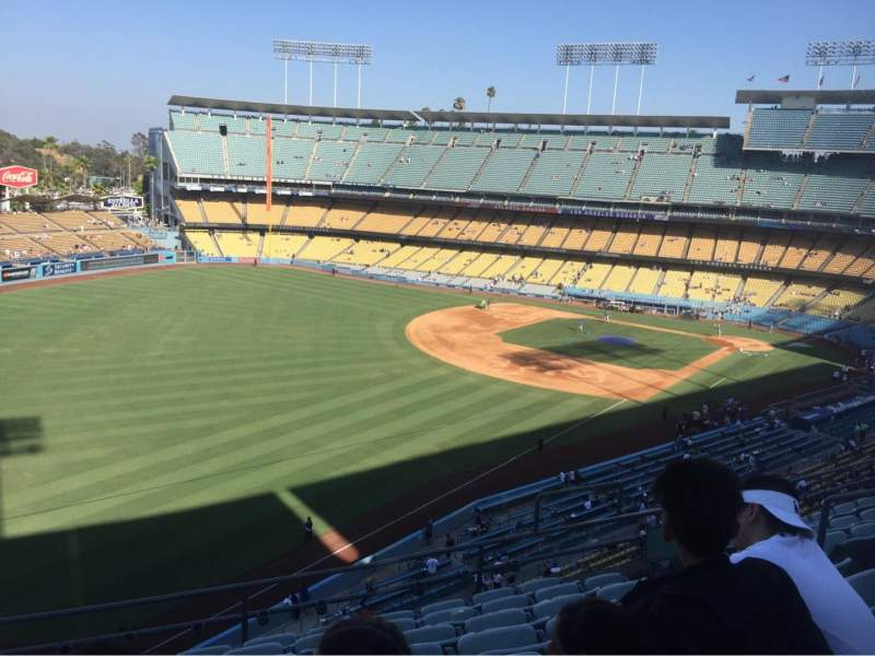Seating view for Dodger Stadium Section 47RS Row H Seat 9