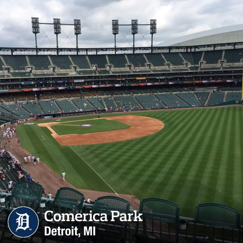 Seating view for Comerica Park Section 211 Row 1 Seat 6