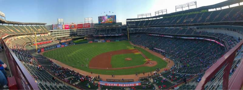 Seating view for Globe Life Park in Arlington Section 320 Row 1 Seat 3